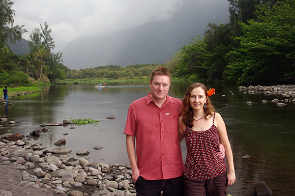 Patricia and I on the Big Island