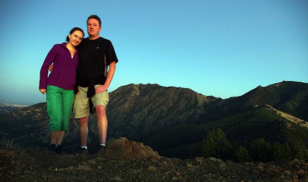 Patricia and I on Eagle Peak summit
