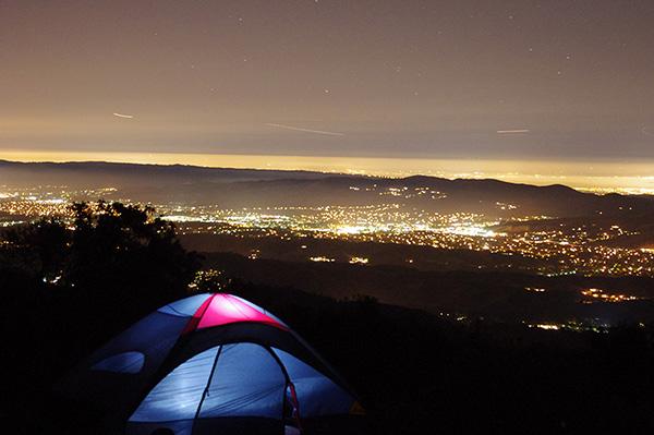 Camping at Mt Diablo, CA