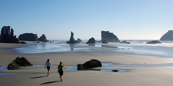 Sage and Patricia at Bandon Beach, OR